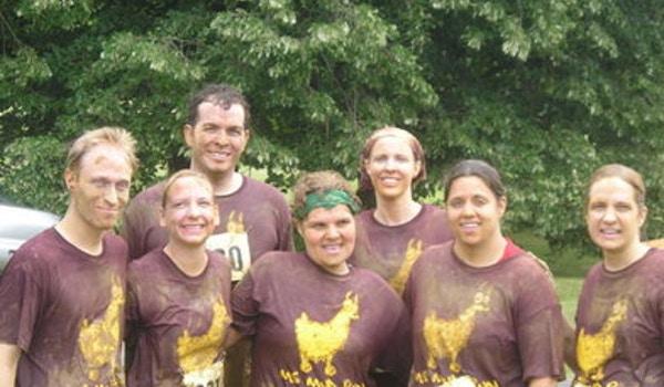 Team Mama Llamas At The Ms Mud Run T-Shirt Photo
