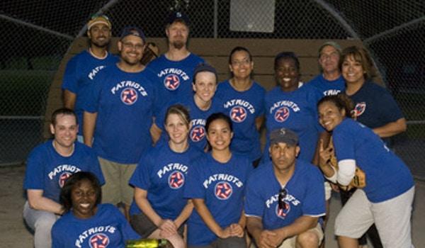 Va Patriots Softball Team T-Shirt Photo