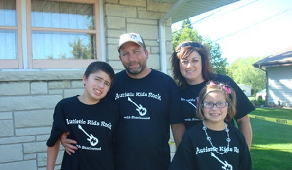 Everyday They Wear An Autism Ribbon For Zachary, Their Son,  T-Shirt Photo