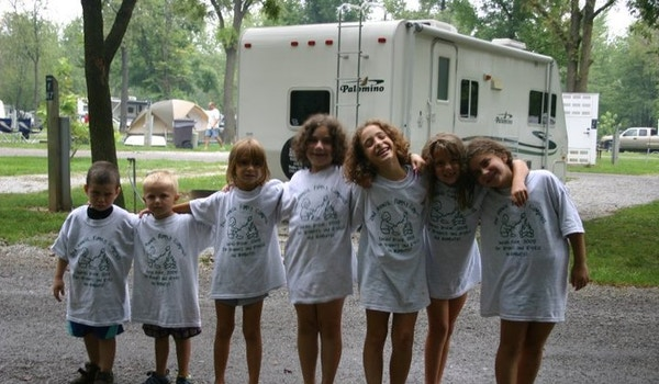 Family Camping At Indiana Beach T-Shirt Photo