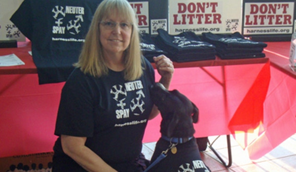"""Lola (Pup) Says """"Be Part Of The Solution: Spay & Neuter!"""" T-Shirt Photo"""
