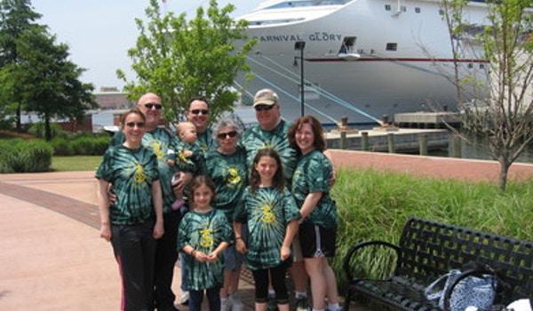 Spence Family At Norfolk Cruise Terminal T-Shirt Photo