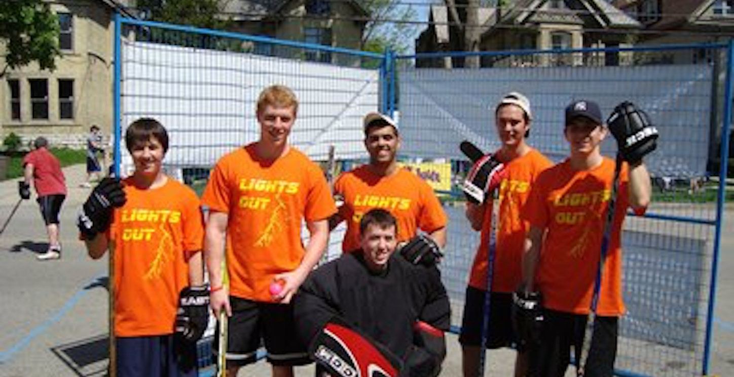 """""""Lights Out"""" Road Hockey Team T-Shirt Photo"""