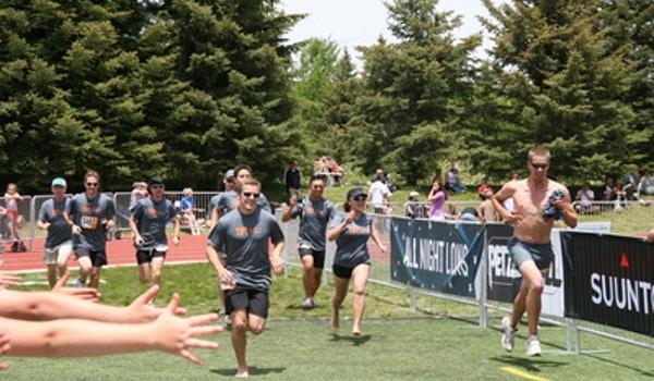 The La Subsonics Cross The Finish Line Together At Ragnar Wa T-Shirt Photo