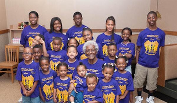 Family Matriarch & Great Grandchildren T-Shirt Photo
