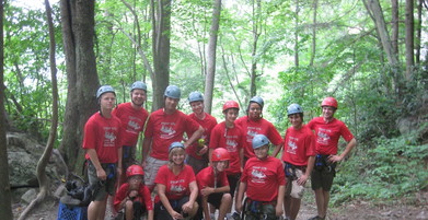 Rock Climbing In The New River Gorge T-Shirt Photo
