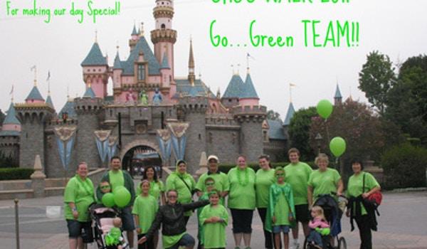 Choc Walk 2011 Green Team  T-Shirt Photo