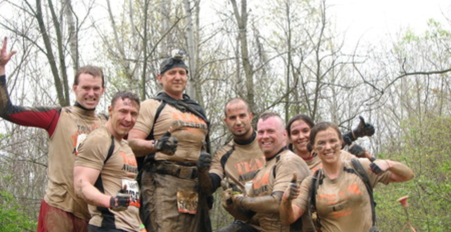 On Top Of The World At The Michigan 2012 Tough Mudder! T-Shirt Photo