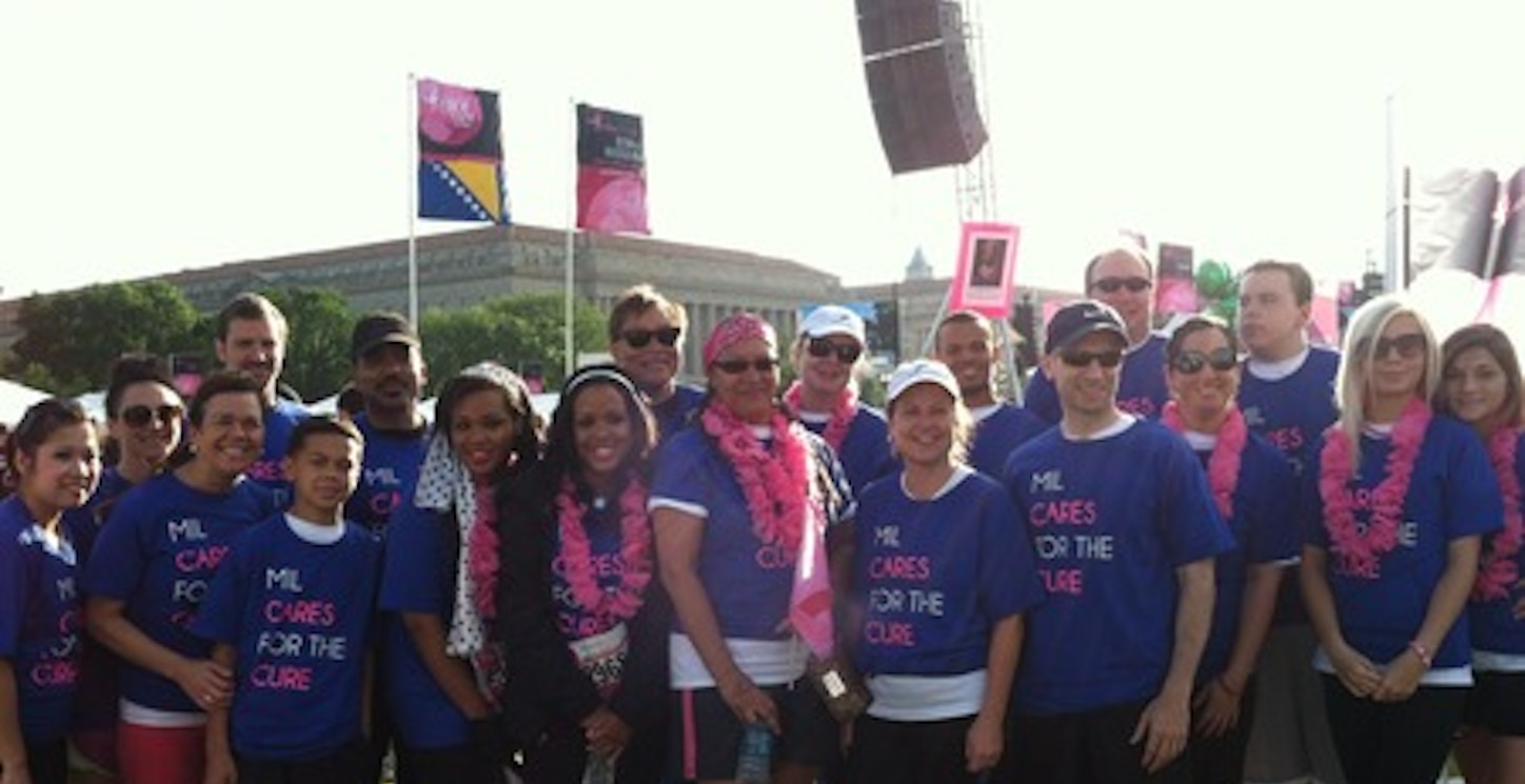 Mil Cares For The Cure! T-Shirt Photo
