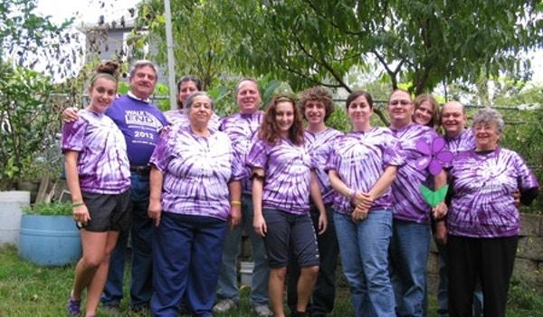 Pop's Players Walk To End Alzheimer's 2012 T-Shirt Photo