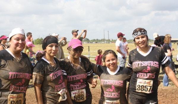 Tittsburgh Feelers   Dirty Girl Mud Run 2012 T-Shirt Photo
