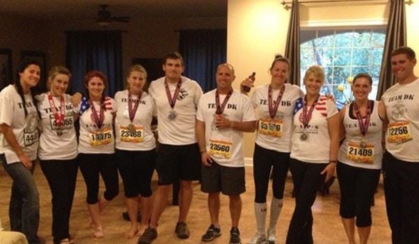 Team Dk Finishes The Marine Corps Marathon T-Shirt Photo