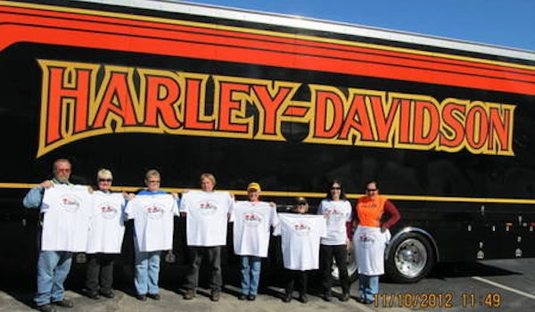 Ocala, Fl Hog Chapter Ready For Our Annual Toy Run T-Shirt Photo