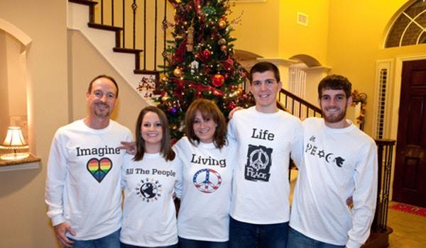 Our Christmas Card Photo T-Shirt Photo
