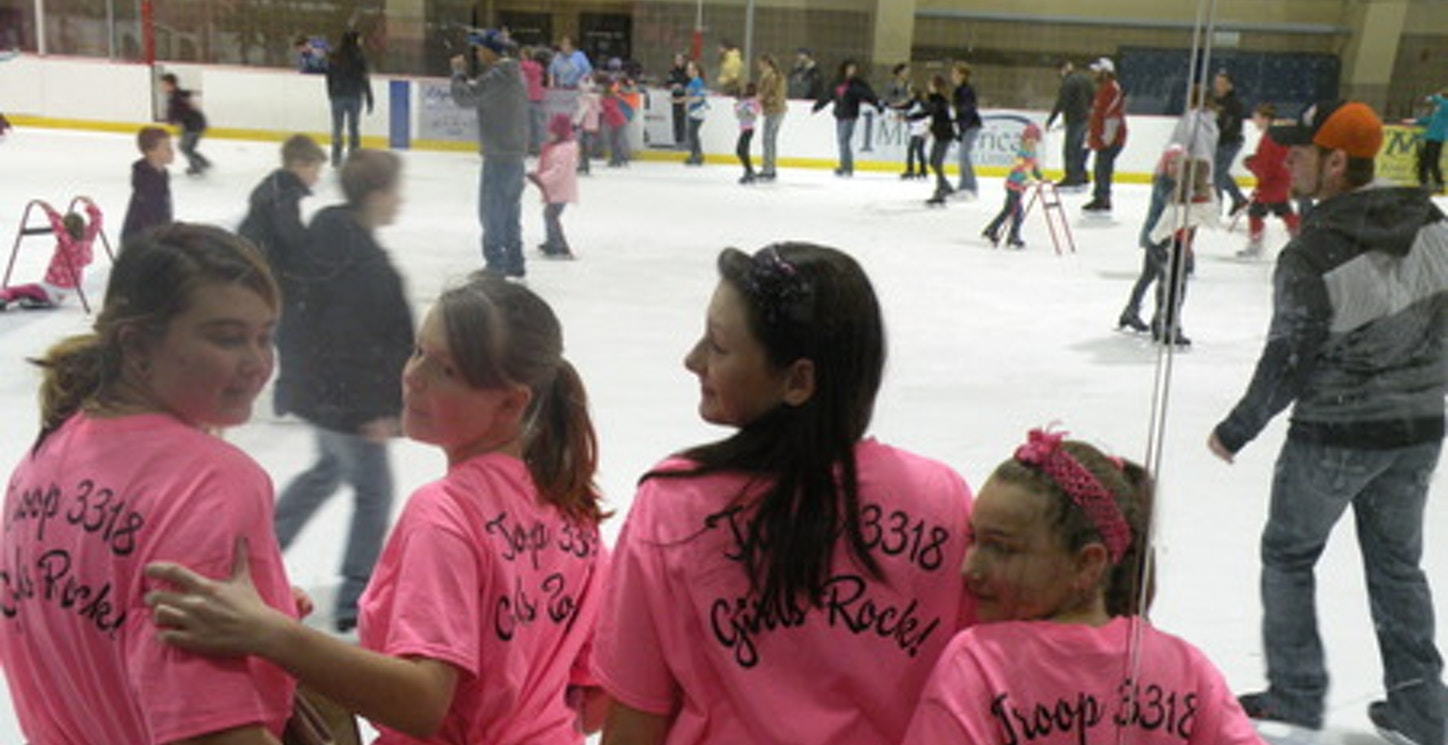 Ice Skating With The Girl Scouts! T-Shirt Photo