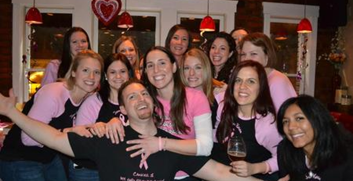 The Girls Rocking Our Customink Shirts With Karen And Her Fiance, Danny T-Shirt Photo