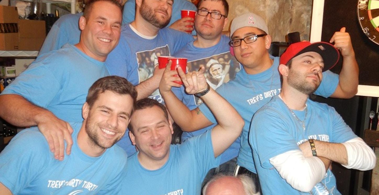 Trey's Dirty Thirty Beer Pong Classic T-Shirt Photo