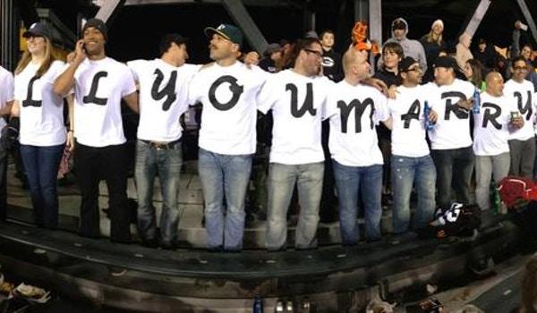 Giant's Vs A's Proposal T-Shirt Photo