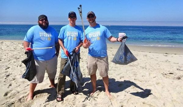 Rotary Beach Cleanup T-Shirt Photo