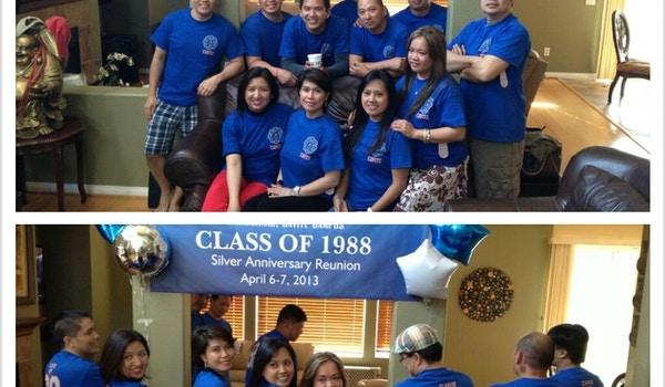Pcu Hs Class Of 1988 25th Anniversary Reunion T-Shirt Photo