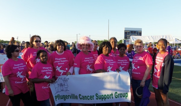 """Pflugerville """"Cancer Kickers"""" T-Shirt Photo"""