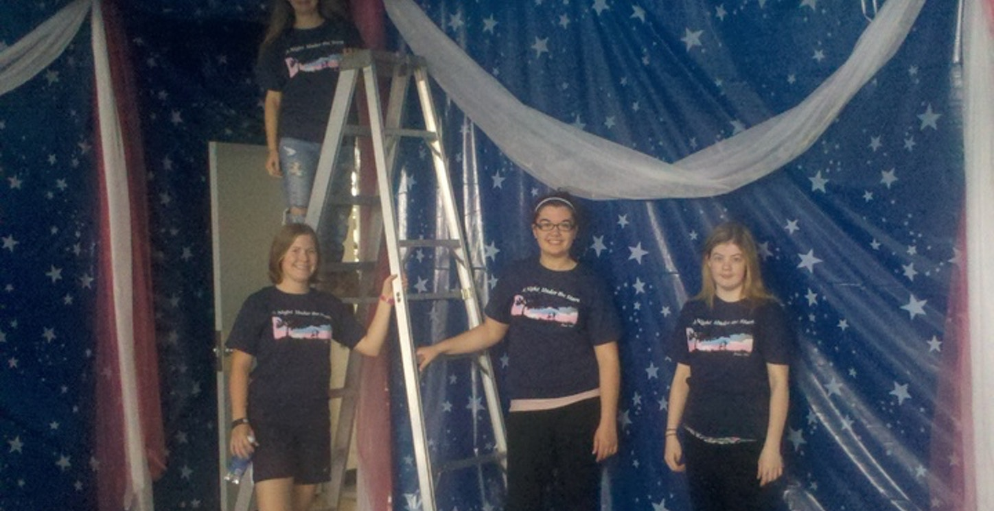 Tazewell High School Prom Decorating Committee T-Shirt Photo