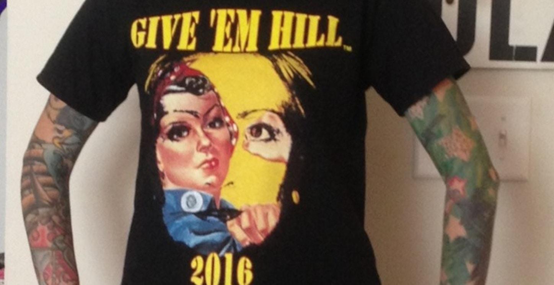 Natalie In Hillary T-Shirt Photo