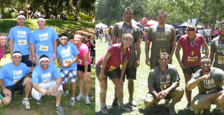 Team Burkert Before&After The Mud Run T-Shirt Photo