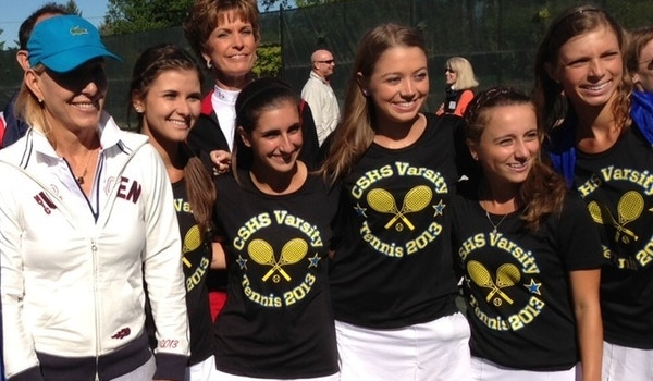 Sandburg Tennis Meets Martina Navratilova  T-Shirt Photo