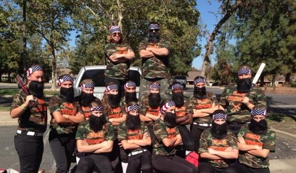 Lady Hustle Softball Team As Duck Dynasty For A Halloween Tournament.  T-Shirt Photo