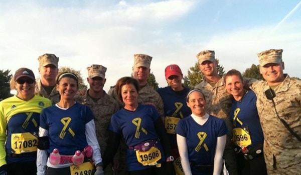 Boston Strong At The Dc Marine Corps Marathon T-Shirt Photo