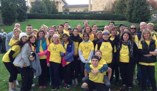 4th Annual Team Maureen Group Photo At The Philadelphia Art Museum T-Shirt Photo