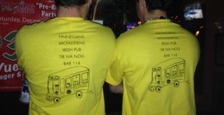 Husband's Surprise 30th Bar Tour! T-Shirt Photo