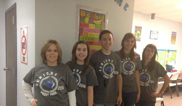 4seniors And The Teacher  T-Shirt Photo