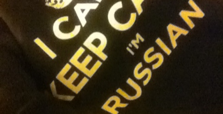 I Can't Keep Calm I'm Russian T-Shirt Photo