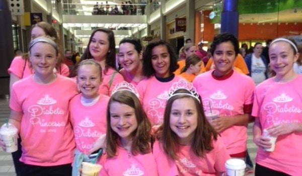 Diabetes Princesses Walk For A Cure! T-Shirt Photo