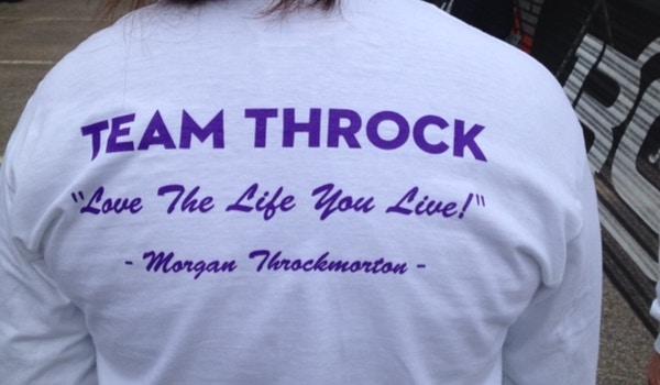 Team Throck   Get Your Rear In Gear 2014 T-Shirt Photo