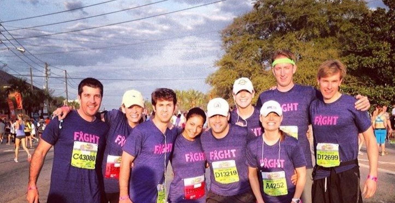 Charleston Cooper River Bridge Run   Team Fight! T-Shirt Photo