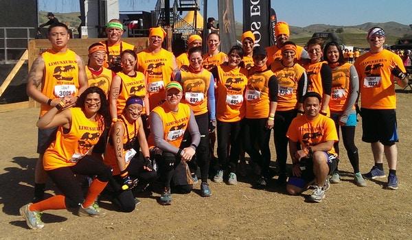 Tough Mudder Team Limusaurus T-Shirt Photo