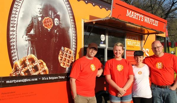 Marty's Waffles Food Truck Crew T-Shirt Photo