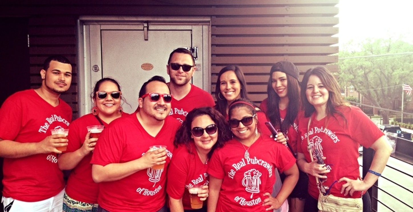 The Real Pubcrawlers Of Houston T-Shirt Photo