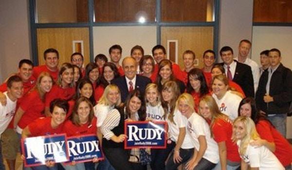 Students For Rudy Giuliani T-Shirt Photo