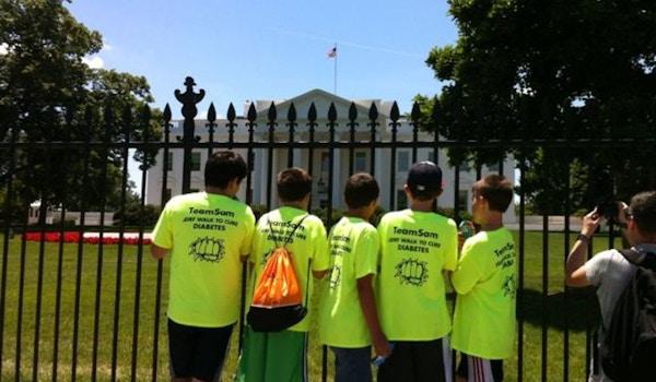 Team Sam At The White House! T-Shirt Photo