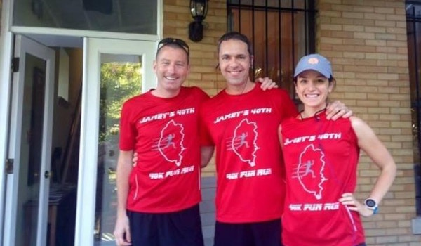 Three Runners Before A 40 K! T-Shirt Photo