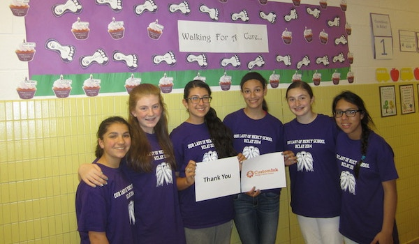 Olm Students Walk For A Cure! T-Shirt Photo