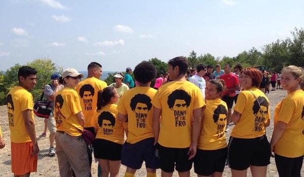 Team Go! Go! Go! At Spartan Sprint 2014 Pa T-Shirt Photo