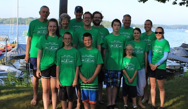 John T Riedl Memorial Family Triathlon T-Shirt Photo