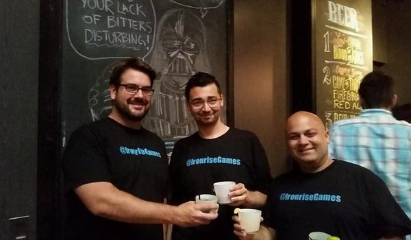 Ironrise Games Testing Out Their New Shirts! T-Shirt Photo