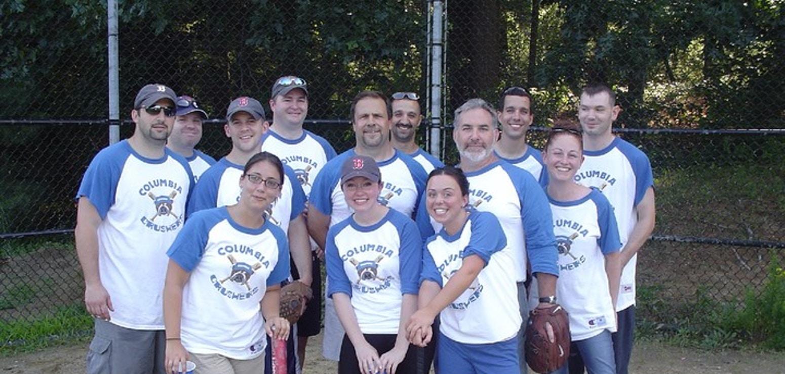 Columbia Crushers Softball Team T-Shirt Photo