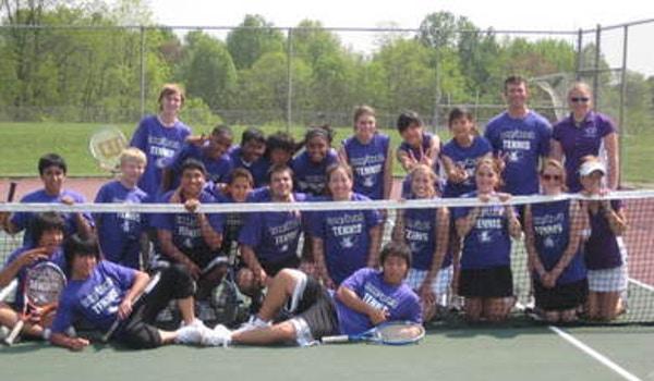 Long Reach Tennis Team T-Shirt Photo